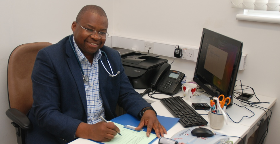 Doctor Babalola at Rose Valley Medical Centre in London